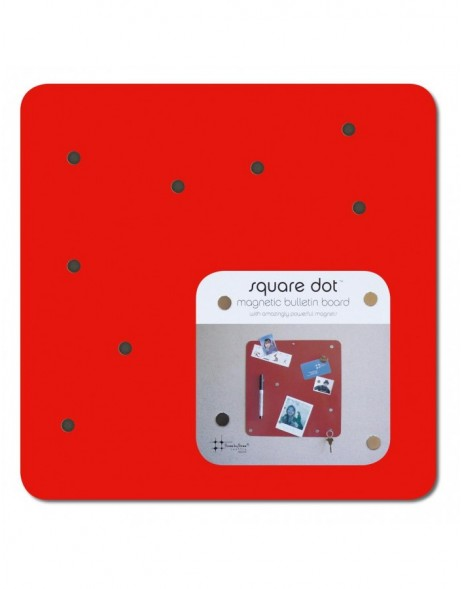 Magnetwand SQUARE DOT 30 cm in rot