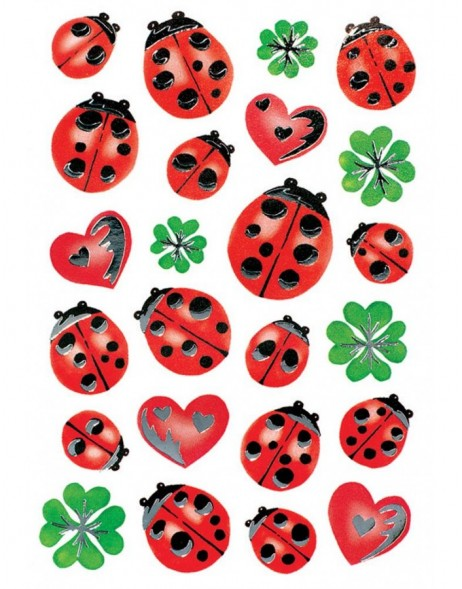 decorative labels Ladybugs - DECOR