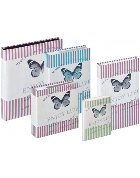 Mariposa slip-in album 10x15 cm, 11x15 cm, 13x18 cm and 15x20 cm