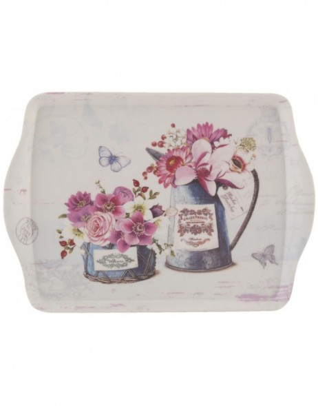 dinner tray FLOWERS small 30x22 cm