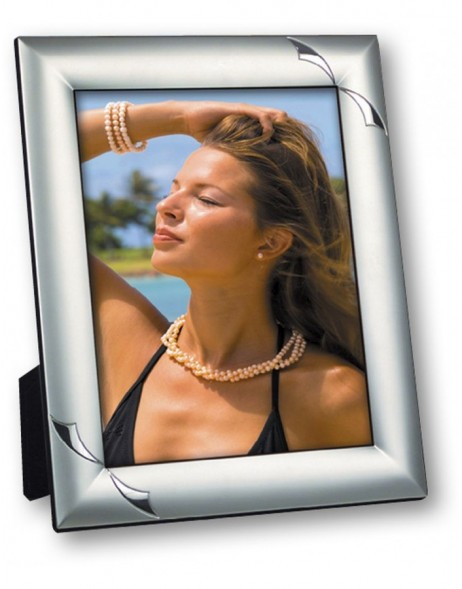 Viona metal photo frame glossy silver