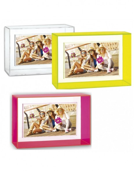 NEON acrylic frame 10x15 cm in yellow, pink or transparent