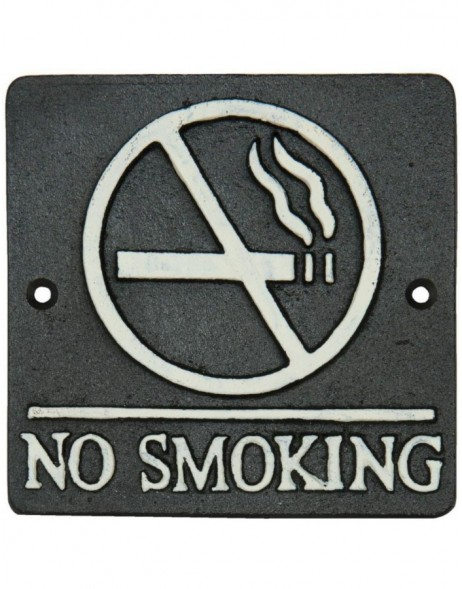 NO SMOKING wall decoration brown - 6Y1597 Clayre Eef