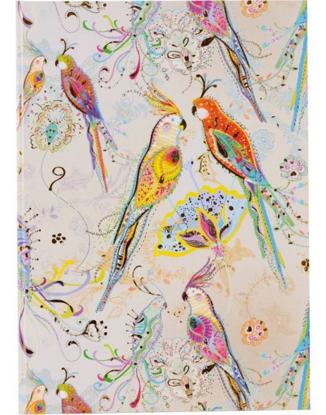 Notebook A5 Silver Moon parrot