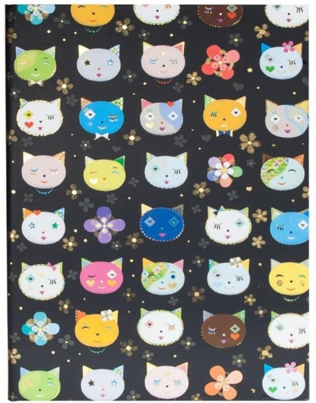 DIN A4 notebook CATS BLACK