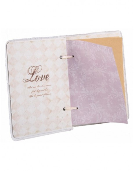 Notepad high-format Baroque rose 21x15