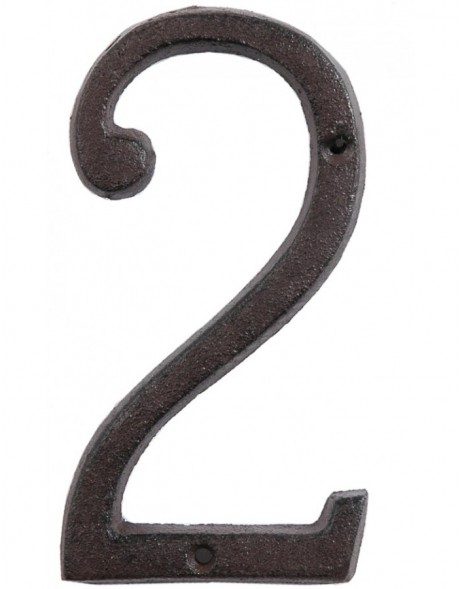 number 0 to 9 15 cm cast-iron