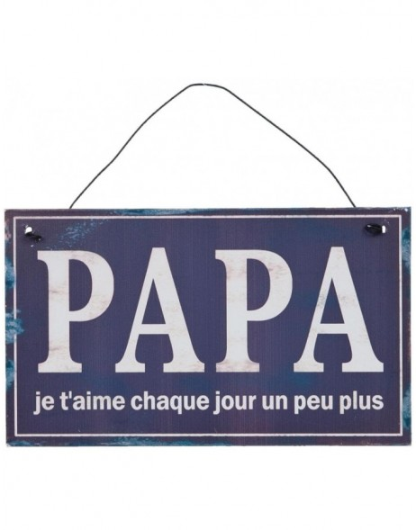 PAPA tin-plate (french) dark - 6Y1331F Clayre Eef