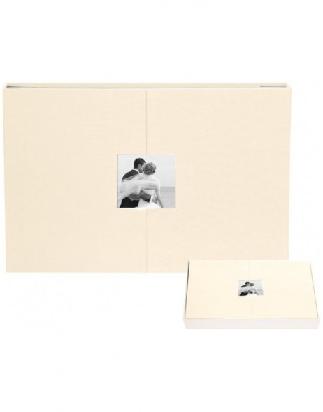 panorama photo album champagner with magnet-breech