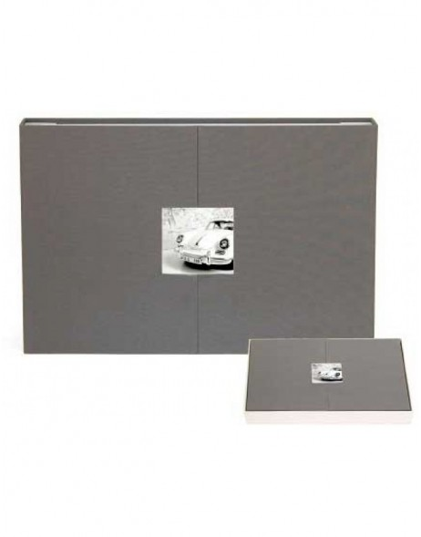 panorama photo album grey with magnet-breech