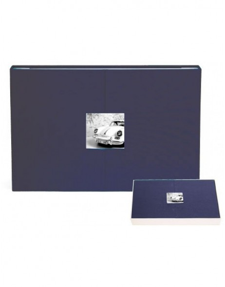 panorama photo album nightblue with magnet-breech