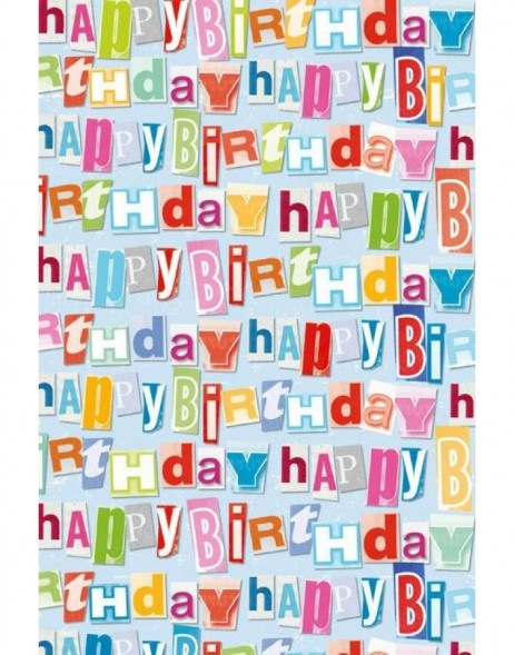 Papier 70x100 cm Happy Birthday Long