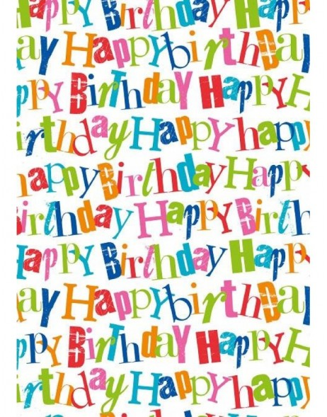 Papier 70x100 cm Happy Birthday multic.