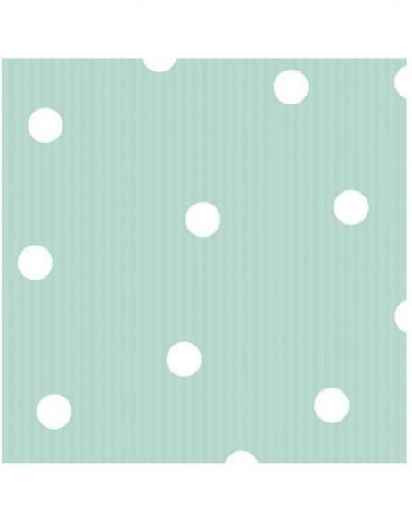 Paper napkins 25x25 cm Dots stripes mint