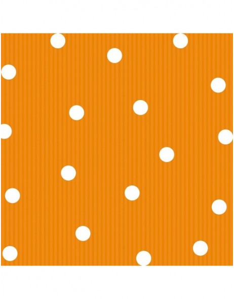 Papier-Servietten Dots/Streifen/orange