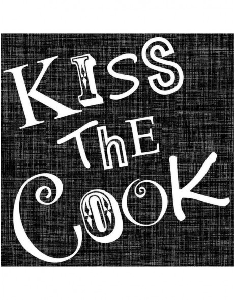 Papier-Servietten Kiss the Cook/schwarz