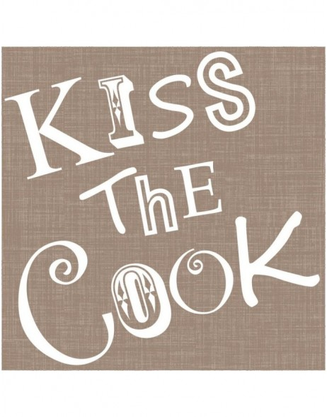 Papier-Servietten Kiss the Cook/taupe