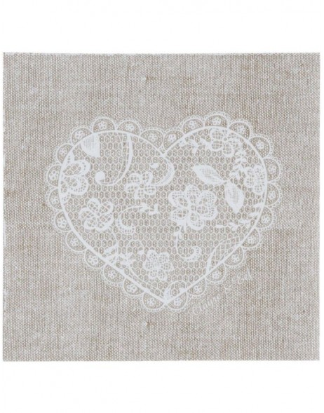 Papier-Servietten Lace With Love  33x33 cm