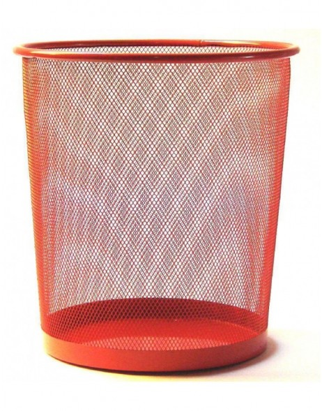 paper bin by officional in red 29 cm