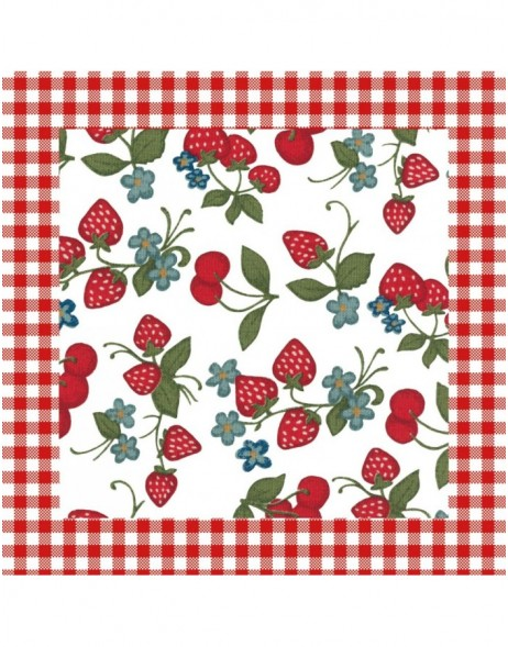 SAC73 Clayre Eef paper napkins 33x33 cm in red
