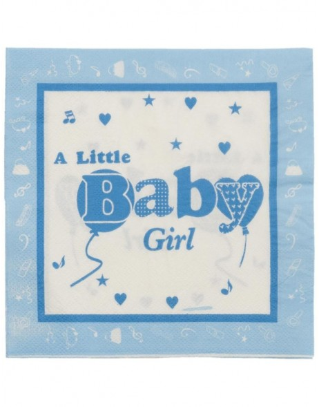 paper napkins BABY GIRLS blue