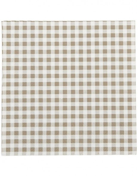 Papierservietten 33x33 cm Just Check beige