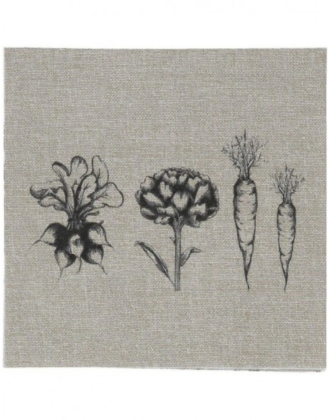 Papierservietten Field Vegetables 33x33 cm