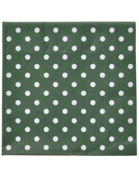 Paper napkins Just Dots green 33x33 cm