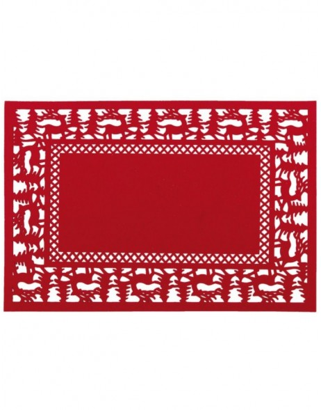 red place mat - FE040.006LR Clayre Eef