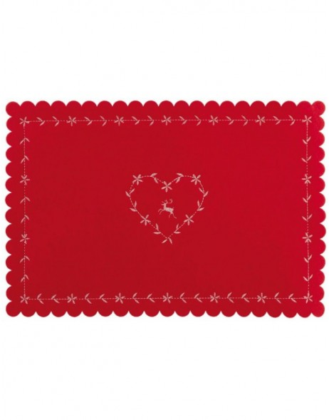 red place mat - FE040.010LR Clayre Eef