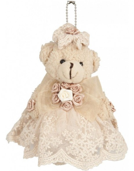 plush teddy 13 cm natural