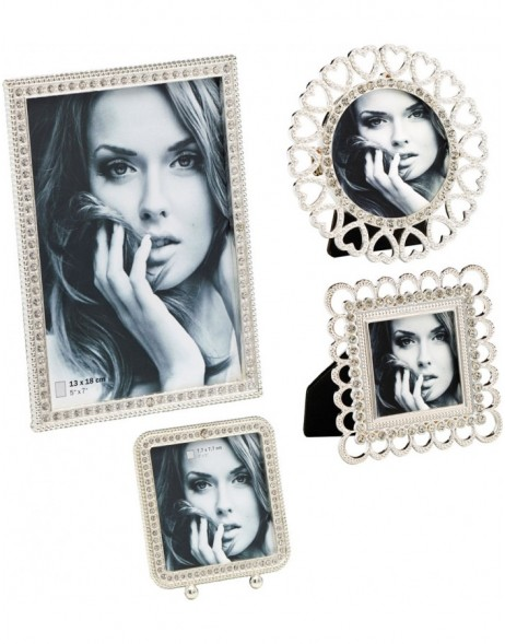 Portrait frame LOUISE with glass stones