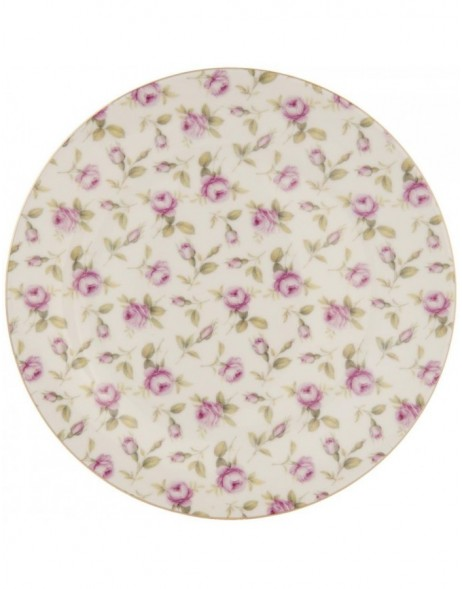 plate TEA ROSE coloured - TRFP Clayre Eef