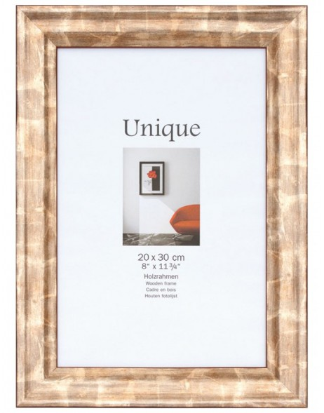 Picture frame UNIQUE III - 21x30 (A4) - bronze, wood