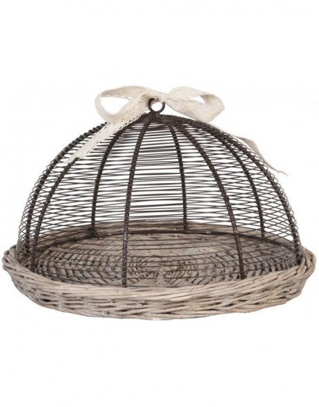 rattan food cover - 6RO0281L Clayre Eef