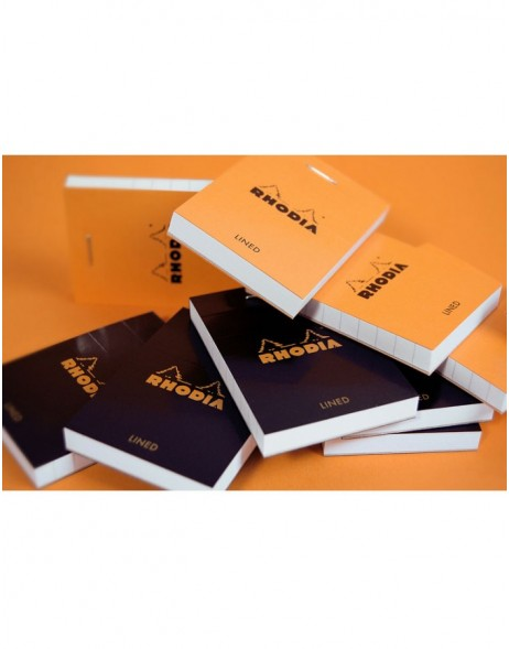 Rhodia block 52x75 60 sheets checkered black