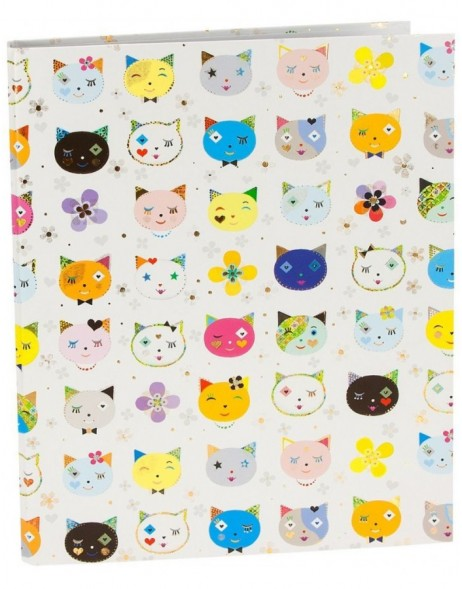 Ringbuch A4 Cats white Turnowsky