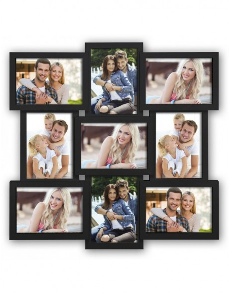 SANTANDER black gallery frame for 9 photos