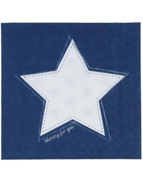 SFY73BL Clayre Eef paper napkins 33x33 cm in blue