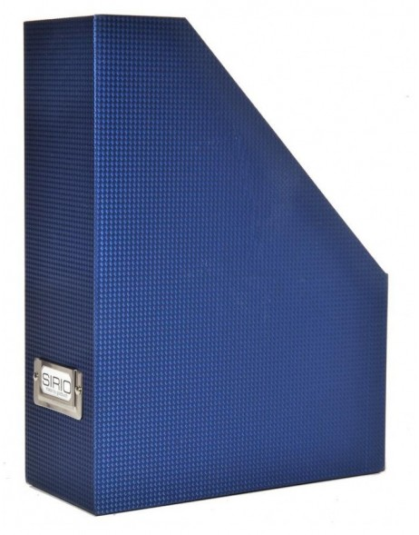 Sirio box for magazines in blue