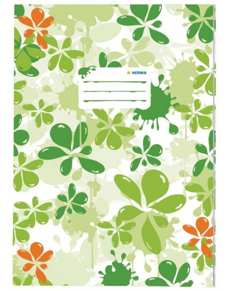 Exercise book cover A4 Splash green