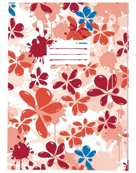 Exercise book cover A4 Splash red