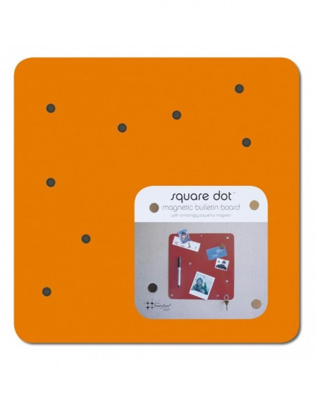 SQUARE DOT 30 cm Magnet Board in orange