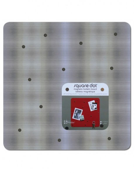 SQUARE DOT Magnet Board 38 cm in edelstahl