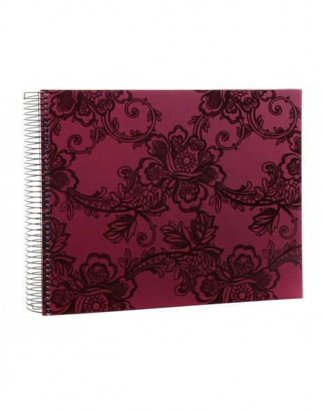 Sakura blackberry photo album spiral bound 30x25 cm