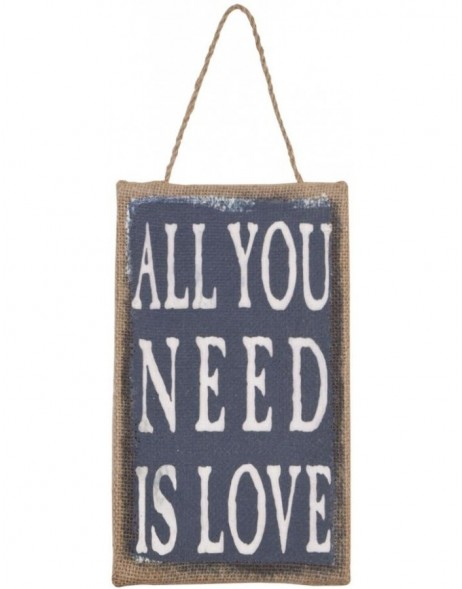 Schild ALL YOU NEED IS LOVE 14x24 cm