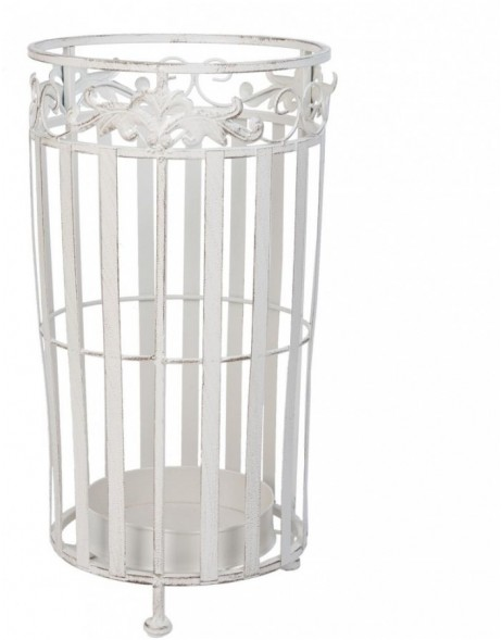 umbrella stand white/shabby - W5Y0219 Clayre Eef