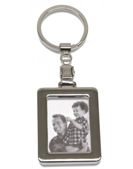 Metal key ring, rectangular