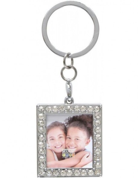 Key Chain rectangular with gems