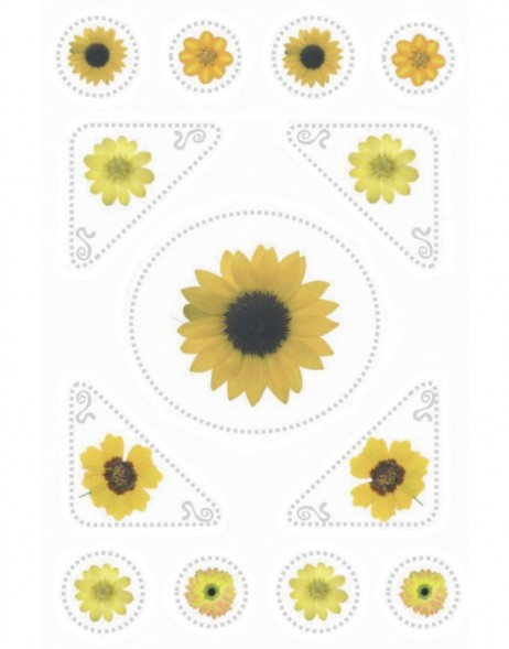 decorative labels MAGIC Sonnenblumen